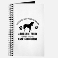 Black Tan Coonhound Mommy designs Journal
