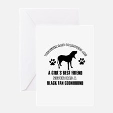 Black Tan Coonhound Mommy designs Greeting Card