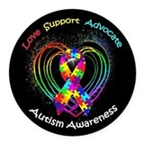 Awareness Round Car Magnets