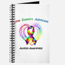 Autism Ribbon on Heart Journal