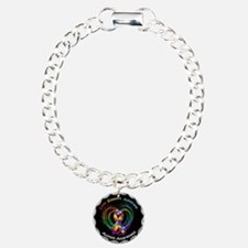 Autism Ribbon on Heart Bracelet