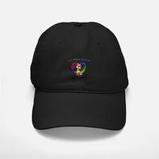 Autism Ribbon on Heart Baseball Hat