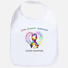 Autism Ribbon on Heart Bib