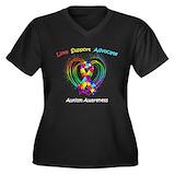 Rainbow autism Plus Size