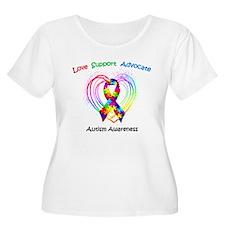 Autism Ribbon on Heart T-Shirt