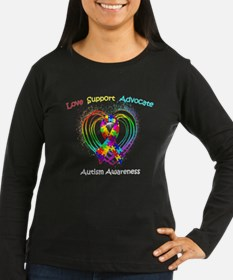 Autism Ribbon on Heart T-Shirt