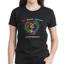Autism Ribbon on Heart Tee