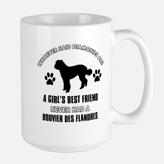 Bouvier Des Flandres Mommy designs Large Mug