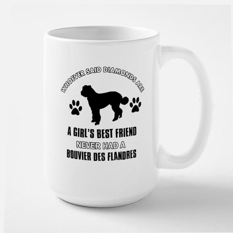 Bouvier Des Flandres Mommy designs Large Mug