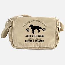 Bouvier Des Flandres Mommy designs Messenger Bag