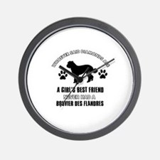 Bouvier Des Flandres Mommy designs Wall Clock