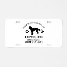Bouvier Des Flandres Mommy designs Aluminum Licens