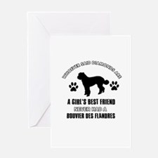 Bouvier Des Flandres Mommy designs Greeting Card