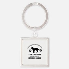 Bouvier Des Flandres Mommy designs Square Keychain