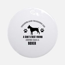 Boxer Mommy designs Ornament (Round)
