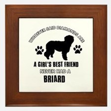 Briard Mommy designs Framed Tile