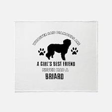 Briard Mommy designs Throw Blanket
