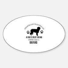 Briard Mommy designs Sticker (Oval)