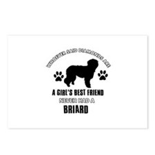 Briard Mommy designs Postcards (Package of 8)