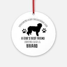 Briard Mommy designs Ornament (Round)