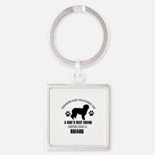 Briard Mommy designs Square Keychain