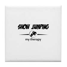 Showjumping my therapy Tile Coaster