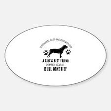 Bull Mastif Mommy designs Sticker (Oval)