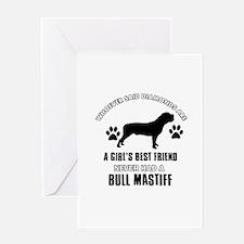Bull Mastif Mommy designs Greeting Card