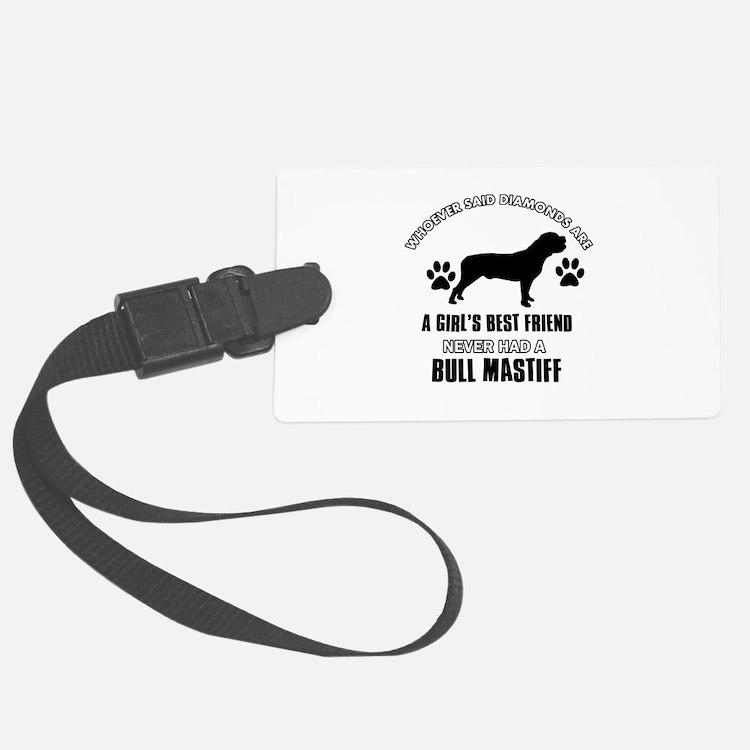 Bull Mastif Mommy designs Luggage Tag