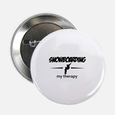 """Snowboarding my therapy 2.25"""" Button"""