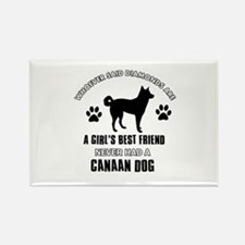 Canaan Dog Mommy designs Rectangle Magnet