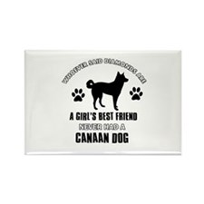 Canaan Dog Mommy designs Rectangle Magnet (10 pack