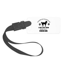 Canaan Dog Mommy designs Luggage Tag