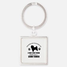 Cairn terrier Mommy designs Square Keychain