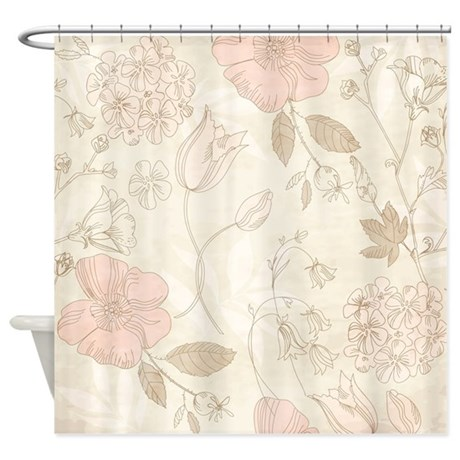 Vintage Flowers Shower Curtain By Bestshowercurtains