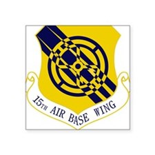 """15th Air Base Wing Square Sticker 3"""" x 3"""""""