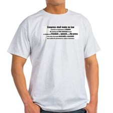 1st Amendment Words Ash Grey T-Shirt