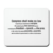 1st Amendment Words Mousepad
