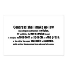 1st Amendment Words Postcards (Package of 8)