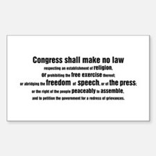 1st Amendment Words Rectangle Decal