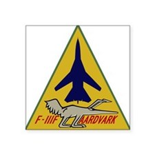 "F-111F Aardvark - 495th TFS Square Sticker 3"" x 3"""