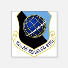 """Funny 134th air refueling wing Square Sticker 3"""" x 3"""""""