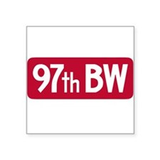 """97th Bomb Wing - Red Flag.PNG Square Sticker 3"""" x"""