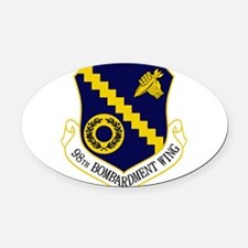 98th Bomb Wing.PNG Oval Car Magnet