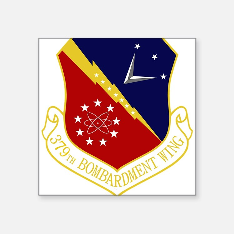 """Cute Air force bombardmentspace wing units Square Sticker 3"""" x 3"""""""