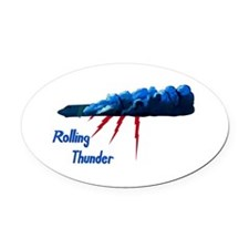 B-52G 58-0165 Rolling Thunder.PNG Oval Car Magnet