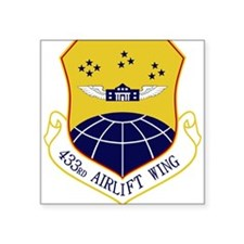 """433rd Airlift Wing.PNG Square Sticker 3"""" x 3"""""""