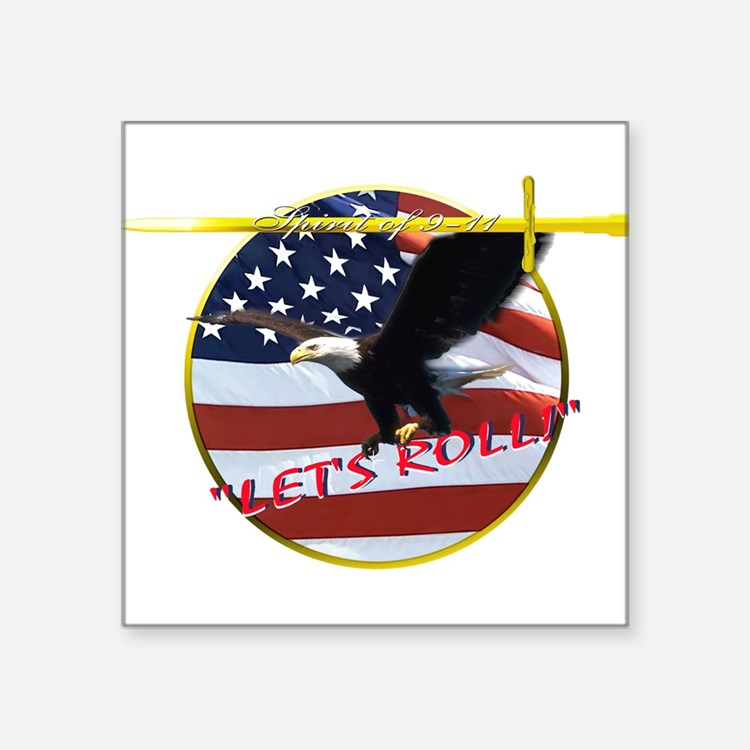 """Lets Roll.PNG Square Sticker 3"""" x 3"""""""