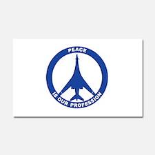 B-1B Lancer - Peace Is Our Profession Car Magnet 2
