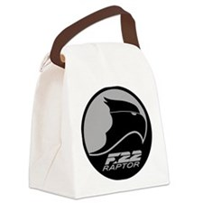 F-22 Raptor - Grey.PNG Canvas Lunch Bag
